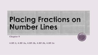 Placing Fractions on Number Lines