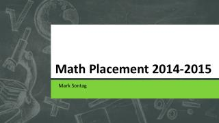 Math Placement 2014-2015