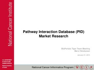 Pathway Interaction Database (PID) Market Research
