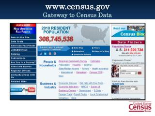 census Gateway to Census Data