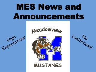 MES News and Announcements