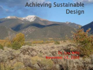 Achieving Sustainable Design
