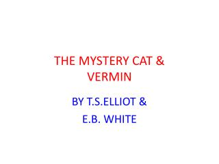 THE MYSTERY CAT & VERMIN