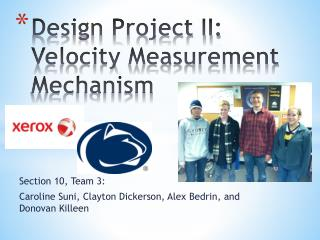 Design Project II: Velocity Measurement Mechanism