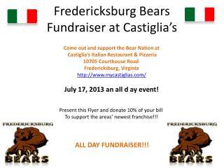 Fredericksburg Bears Fundraiser at  Castiglia�s