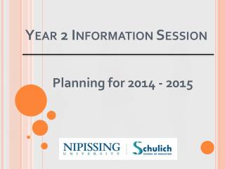 Year 2 Information Session