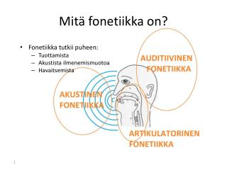 Mit� fonetiikka on?