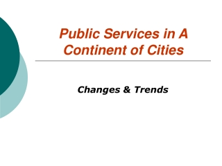 Decentralization, service delivery and politics