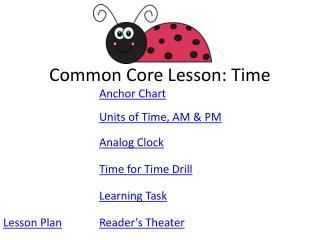 Common Core Lesson: Time