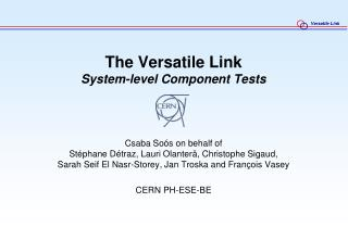 The Versatile Link System-level Component Tests