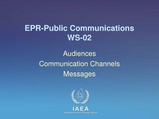 EPR-Public Communications WS -02