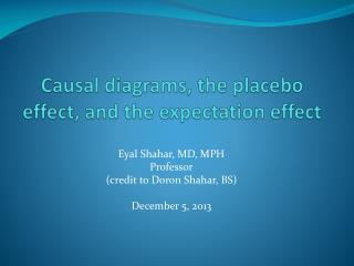 Causal diagrams, the placebo effect, and the expectation effect
