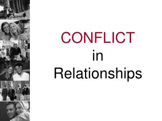 CONFLICT in  Relationships