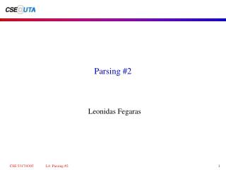 Parsing 2
