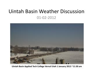 Uintah Basin Weather Discussion