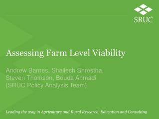 Assessing Farm Level Viability