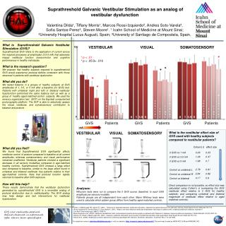 �Suprathreshold Galvanic Vestibular Stimulation as an analog of vestibular dysfunction