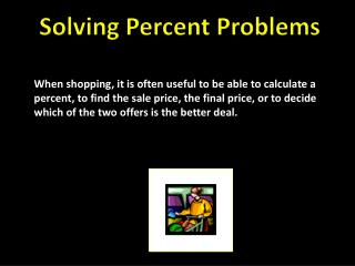 Solving Percent Problems