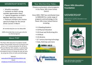 Preserve and protect school programs in the Placer Hills Union School District