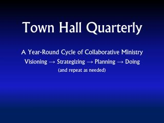 Town Hall Quarterly