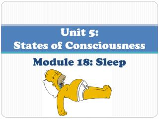 Unit 5 : States  of Consciousness