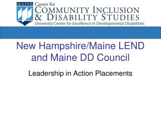 New Hampshire/Maine LEND and Maine DD Council