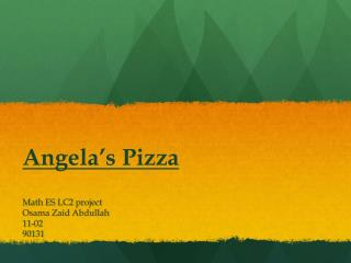 Angela�s Pizza