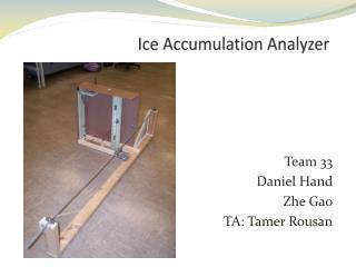 Ice Accumulation Analyzer