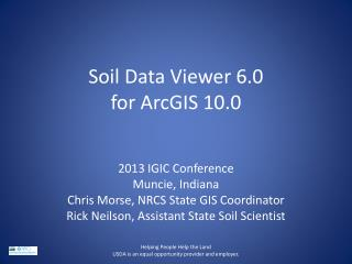 Soil Data Viewer 6.0 for ArcGIS 10.0
