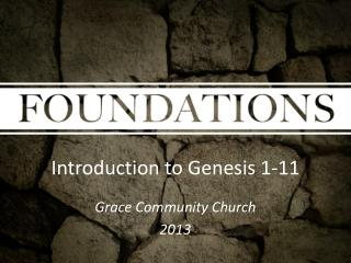 Introduction to Genesis 1-11