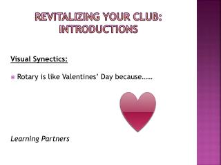 Revitalizing your Club: Introductions