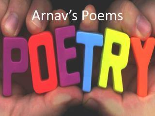 Arnav's Poems
