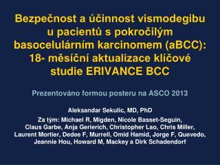 Aleksandar Sekulic, MD, PhD