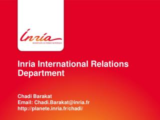 Inria  International Relations  Department