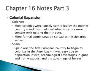 Chapter 16 Notes Part 3