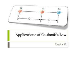 Applications of Coulomb�s Law