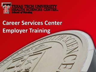 Career Services Center Employer Training