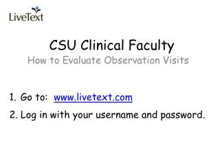CSU Clinical Faculty