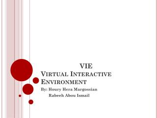 VIE Virtual Interactive Environment