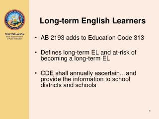 Long-term English Learners