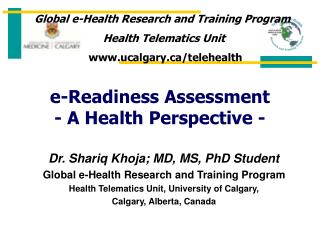 E-Readiness Assessment - A Health Perspective -
