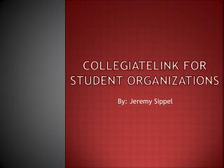 CollegiateLink  for Student Organizations