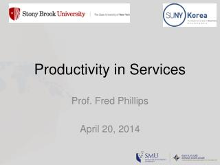 Productivity in Services