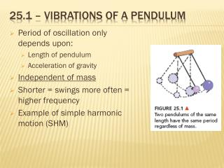 25.1 – vibrations of a pendulum