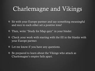 Charlemagne and Vikings