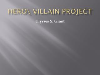 Hero\ Villain Project