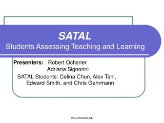 SATAL Students Assessing Teaching and Learning