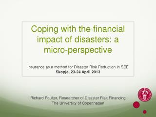 Coping with the financial impact of disasters: a micro-perspective