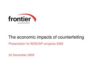 The economic impacts of counterfeiting