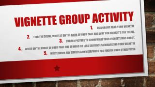 Vignette group activity